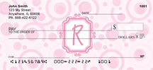 Bubbly Monogram R Personal Checks