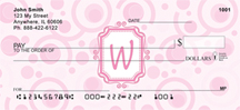 Bubbly Monogram W Personal Checks