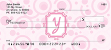 Bubbly Monogram Y Personal Checks