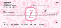 Monogram Letter Z Very Bubbly Personal Checks