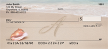 Sand Written Monogram A Personal Checks