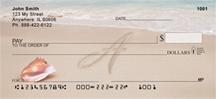 Monogram Letter A Sand Written