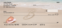 Sand Written Monogram B Personal Checks