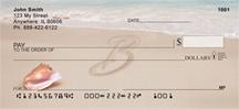 Monogram Letter B Sand Written