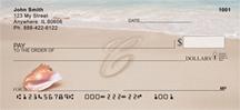 Monogram Letter C Sand Written
