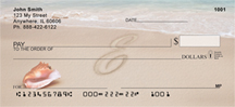 Sand Written Monogram E Personal Checks