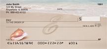 Monogram Letter E Sand Written