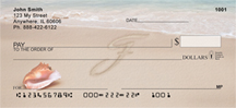 Sand Written Monogram F Personal Checks