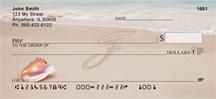 Monogram Letter F Sand Written