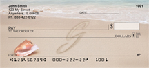Sand Written Monogram G Personal Checks