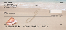 Sand Written Monogram J Personal Checks