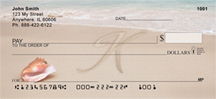 Sand Written Monogram K Personal Checks