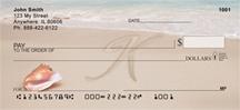 Monogram Letter K Sand Written