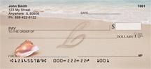 Monogram Letter L Sand Written