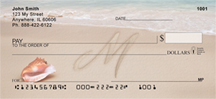 Sand Written Monogram M Personal Checks