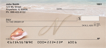 Sand Written Monogram N Personal Checks