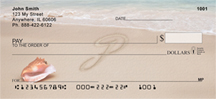 Sand Written Monogram P Personal Checks