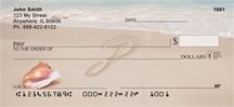 Monogram Letter P Sand Written