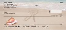 Sand Written Monogram R Personal Checks