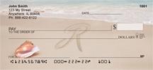 Monogram Letter R Sand Written