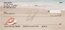 Sand Written Monogram U Personal Checks