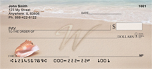 Sand Written Monogram W Personal Checks