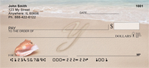 Sand Written Monogram Y Personal Checks