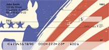 Democrat Donkey Flag Personal Checks