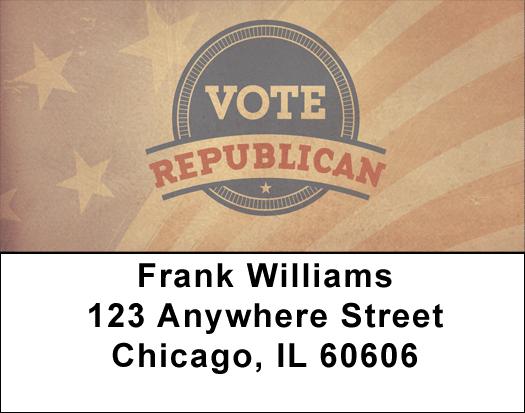Vote Republican Address Labels