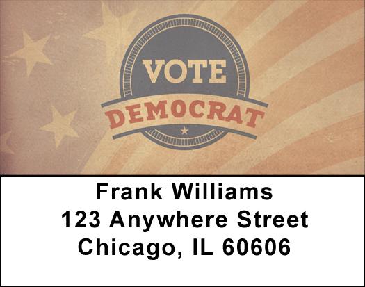Vote Democrat Address Labels