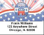 Republican Stars and Stripes Address Labels