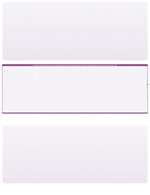 Violet Safety Blank Stock for Computer Voucher Checks Middle Style $ 11.99