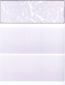 Violet Marble Blank Stock for Computer Voucher Checks Top Style