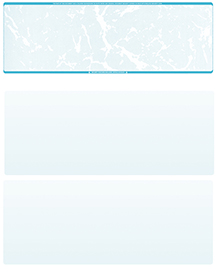 Teal Marble Blank Stock for Computer Voucher Checks Top Style