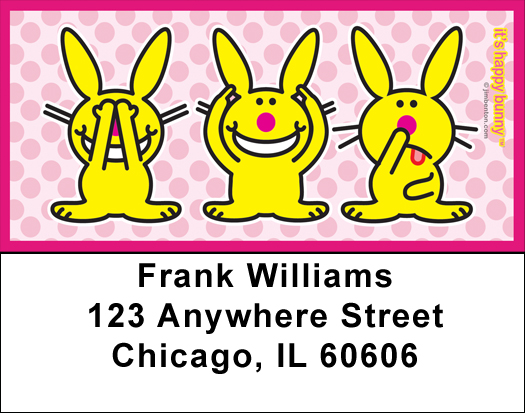 It's Happy Bunny Funny Address Labels