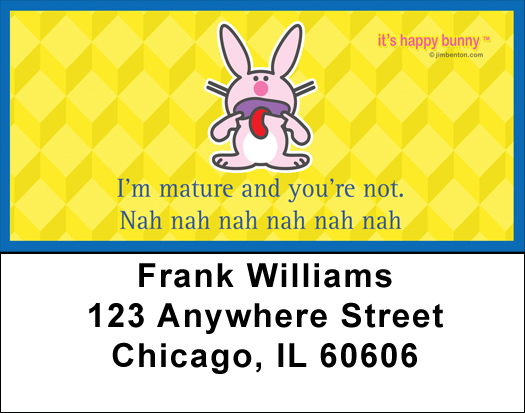 It's Happy Bunny Insults Address Labels