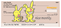 It's Happy Bunny Nice Mostly Personal Checks $ 12.99
