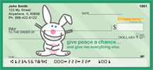 It's Happy Bunny Peace Personal Checks $ 12.99