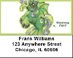 Green Demons By Little Demon Address Labels $ 5.99