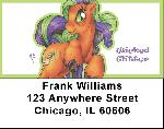 Purple and Green Demons By Little Demon Address Labels $ 5.99