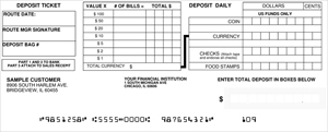 Deposit Books Style 6 Checks