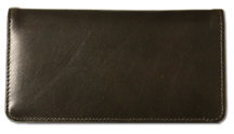 Dark Olive Green Smooth Leather Checkbook Cover $ 14.99