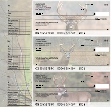 Big Horned Buck Designer Deskset Checks