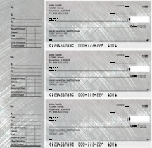 Brushed Metal Designer Deskset Checks