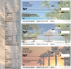 Island Paradise Designer Deskset Checks