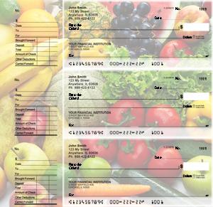 Fresh Produce Designer Deskset Checks