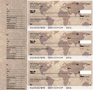 World Map Designer Deskset Checks