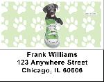 Pups in Chucks Keith Kimberlin Address Labels
