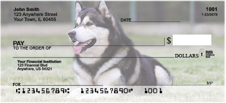 Alaskan Malamute Personal Checks