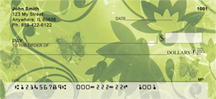 Seamless Green Butterflies Personal Checks